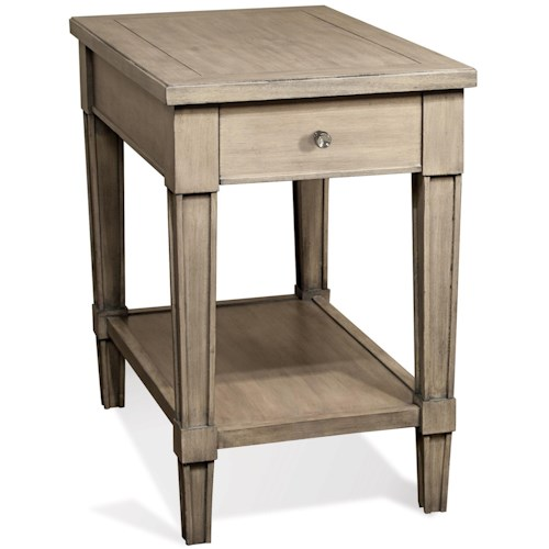 Riverside Furniture Parkdale 1 Drawer Rectangle Chairside Table