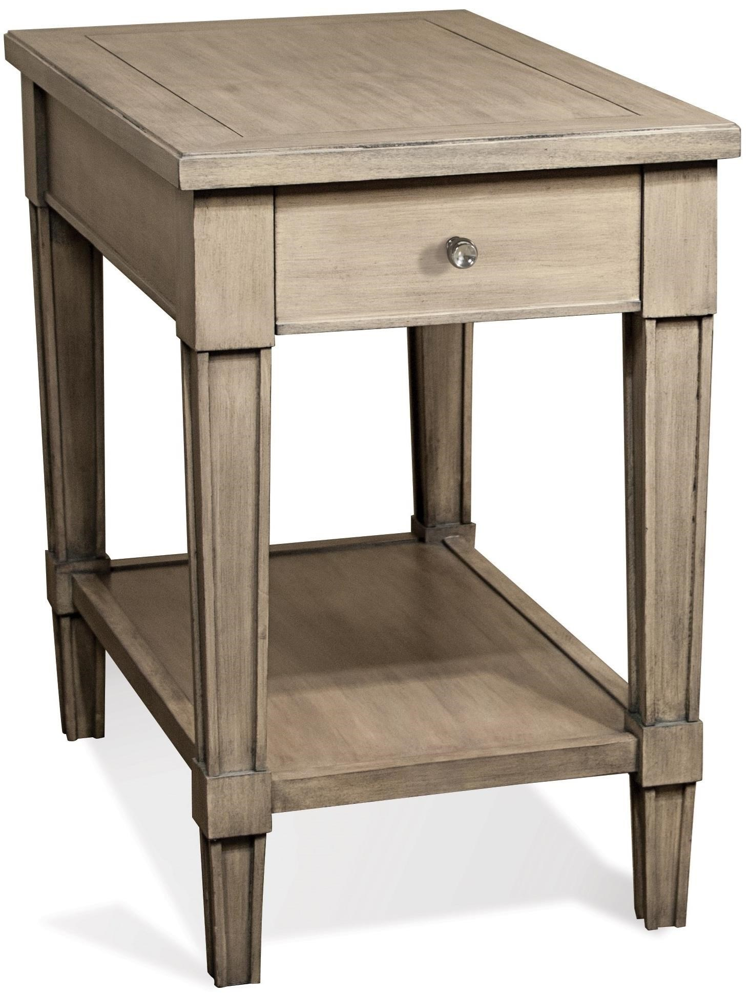 Riverside Furniture Parkdale 1 Drawer Rectangle Chairside Table   Darvin  Furniture   End Table