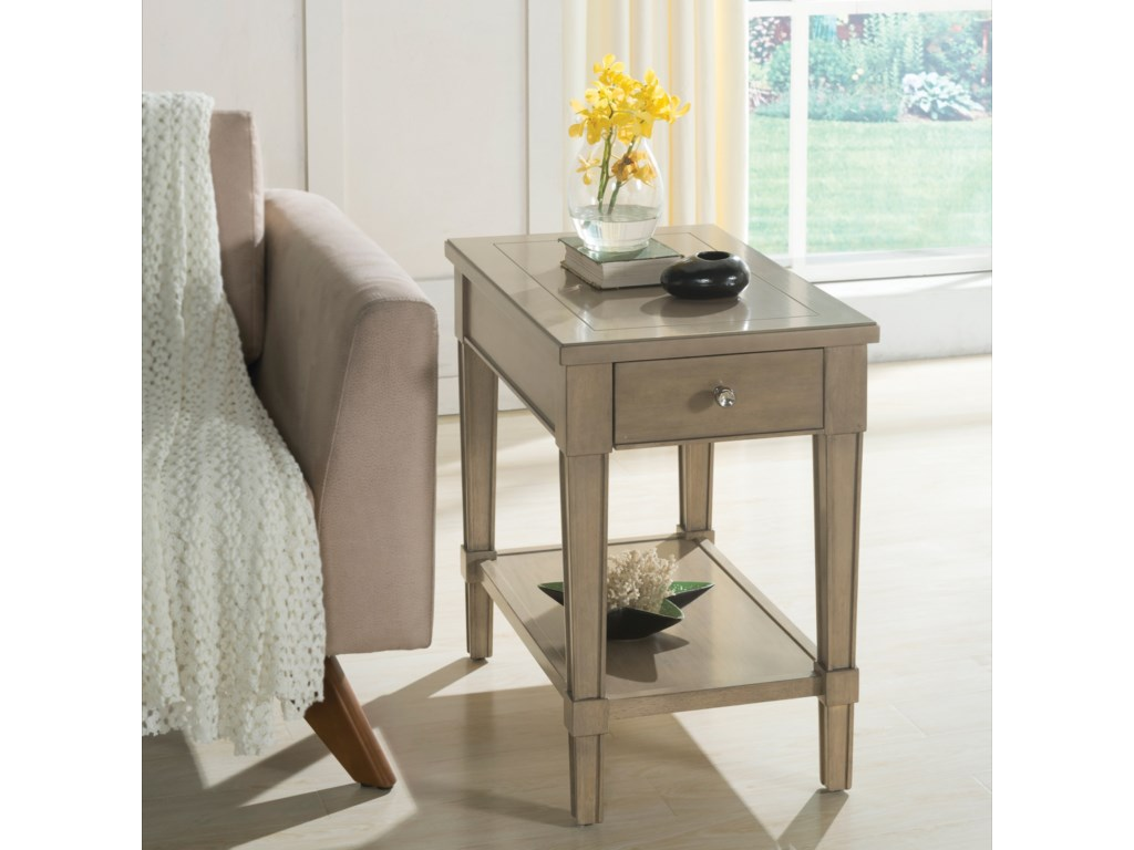 Riverside Furniture ParkdaleRectangle Chairside Table