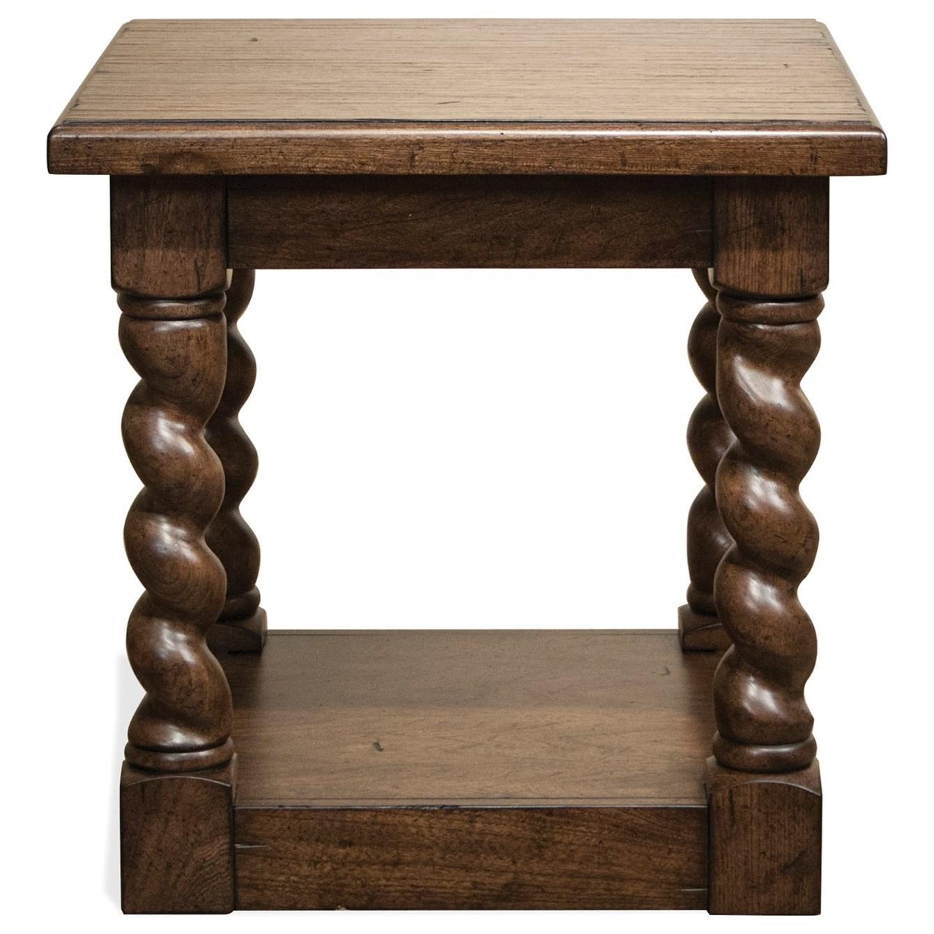 Riverside Furniture Pembroke Side Table With Fixed Bottom Shelf