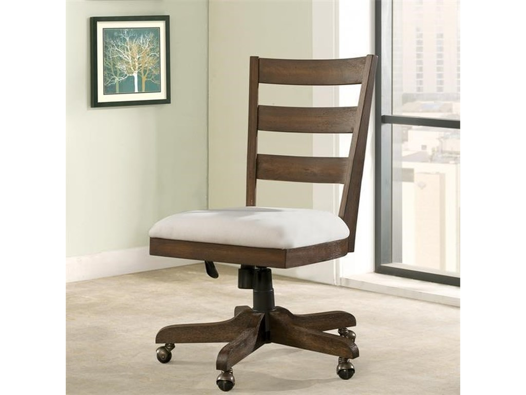 Riverside Furniture PerspectivesWood Back Upholstered Desk Chair