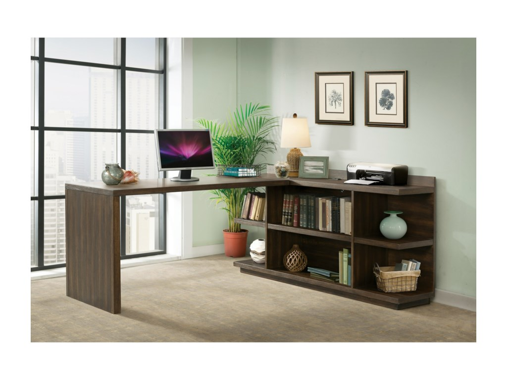 Riverside Furniture PerspectivesPeninsula Bookcase Desk
