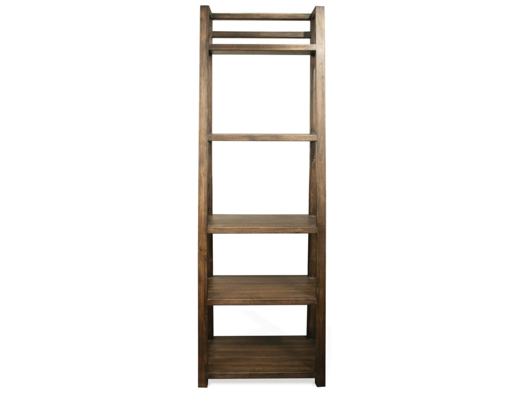 reputable site 8cb52 d4015 Perspectives Leaning Bookcase with 5 Shelves by Riverside Furniture at  Value City Furniture