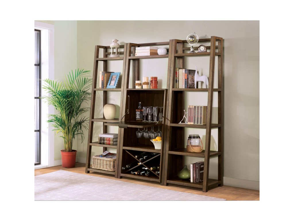Riverside Furniture PerspectivesLeaning Bookcase