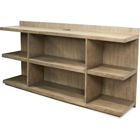 Peninsula Bookcase Desk