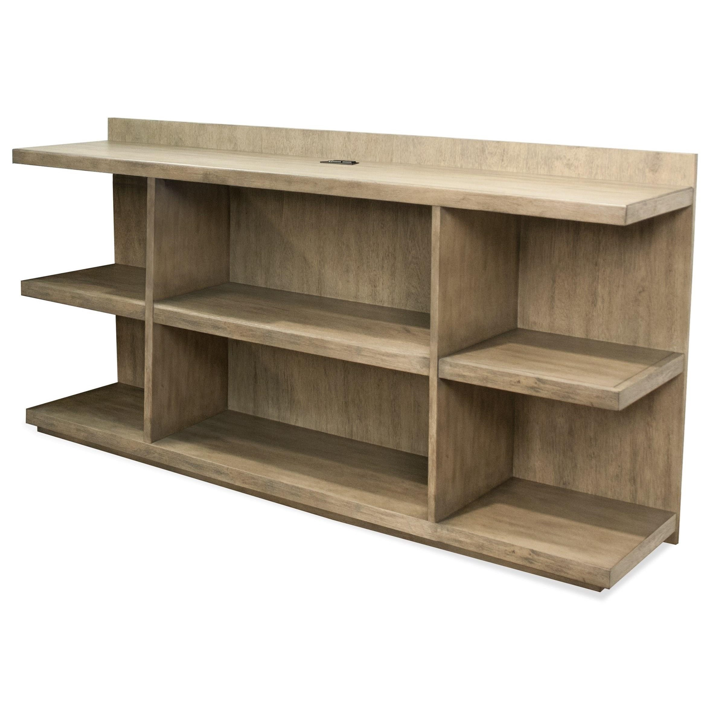 Genial Riverside Furniture Perspectives Peninsula Bookcase Desk With Outlet Bar In  Top Panel