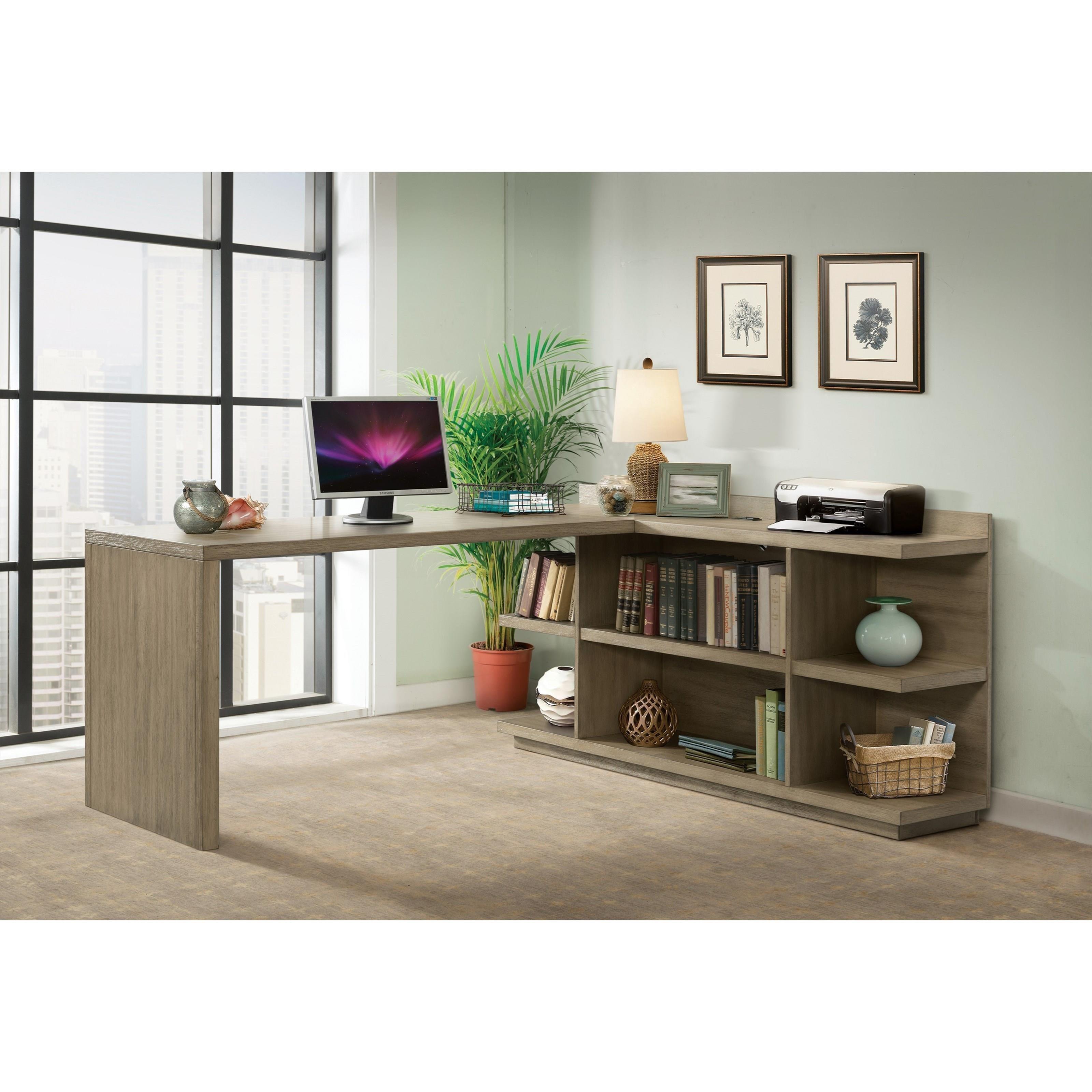 ... Riverside Furniture PerspectivesPeninsula Bookcase Desk ...