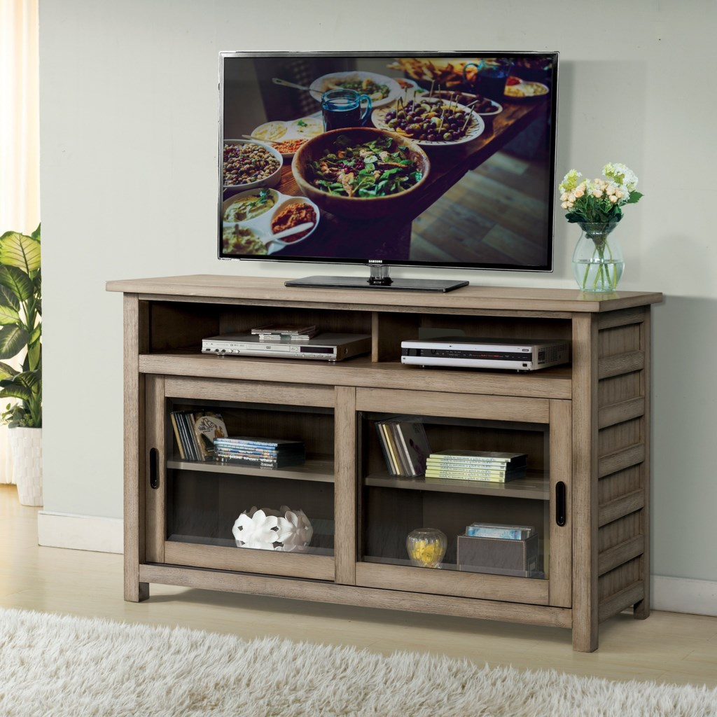 Riverside Furniture Perspectives 28140 Rustic 54 Inch Tv Console