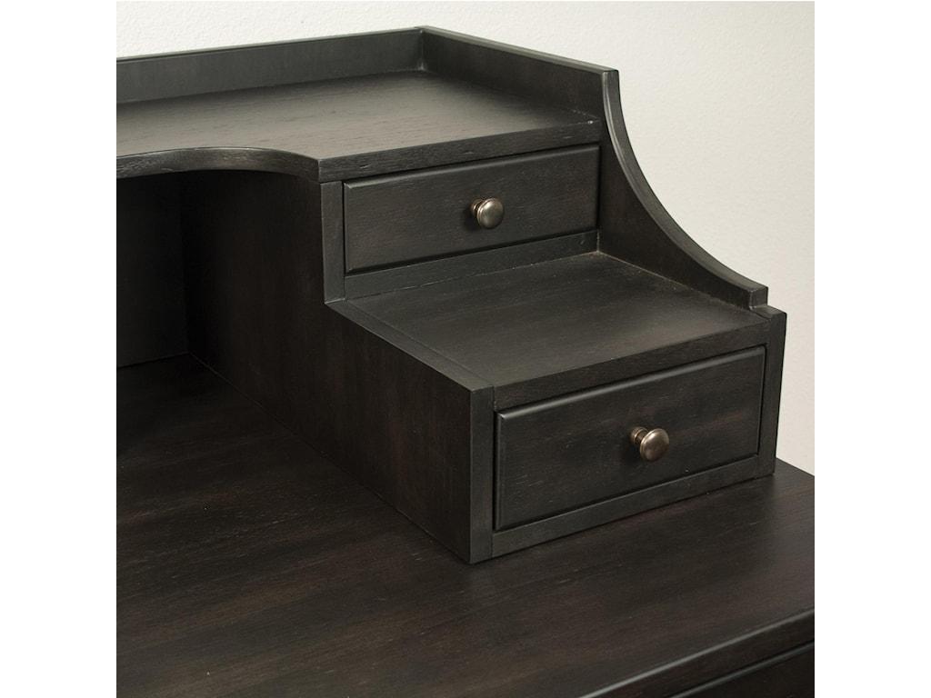 Riverside Furniture PerspectivesLeg Desk With Hutch