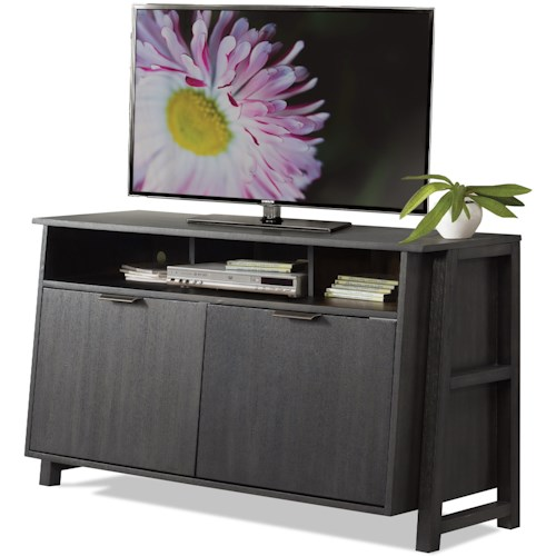 Riverside Furniture Perspectives Entertainment Console with Enclosed Adjustable Shelving