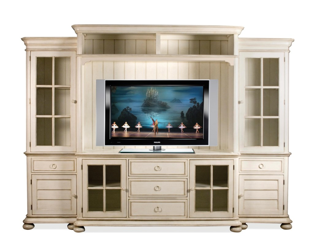 Riverside Furniture Placid Cove Entertainment Wall Unit with Panel ...