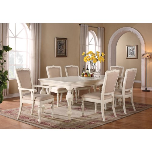 Riverside Furniture Placid Cove 7 Piece Rectangular Dining Table & Upholstered Chair Set