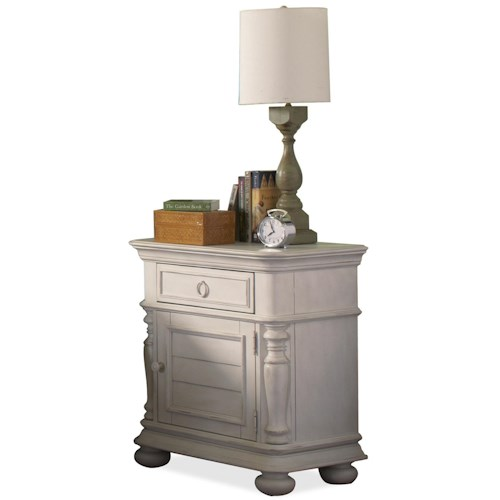 Riverside Furniture Placid Cove Doored Nightstand with 1 Drawer