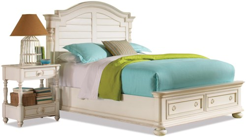Riverside Furniture Placid Cove King Arch Storage Bed