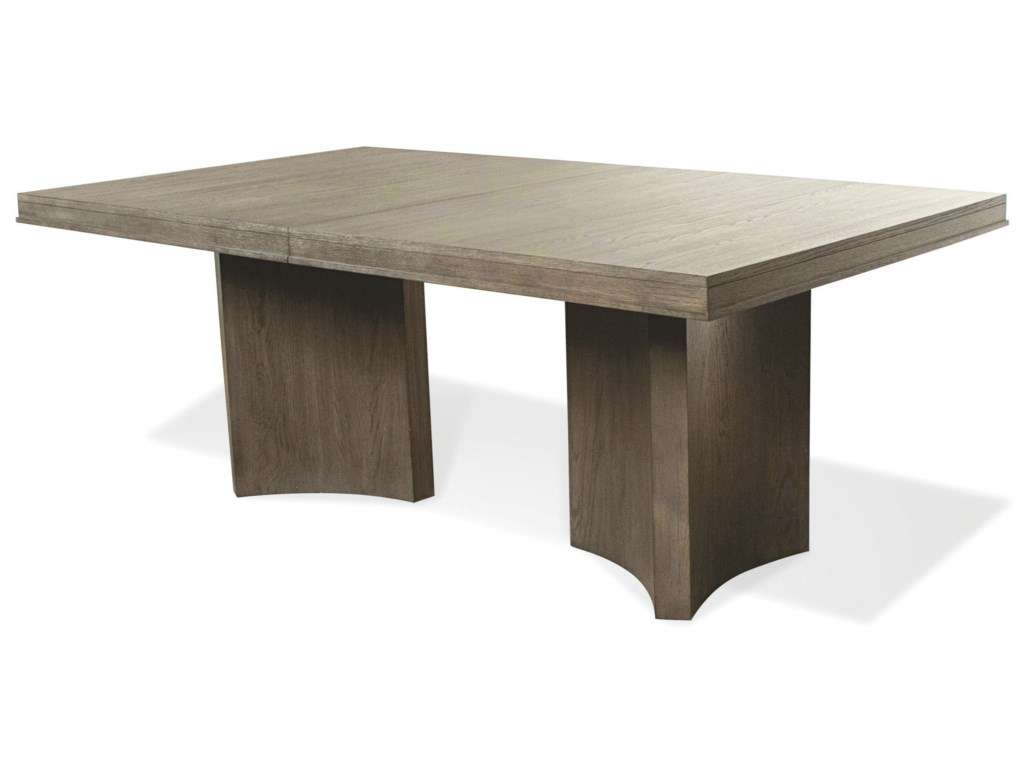 Riverside Furniture Precision Contemporary Pedestal Dining Table - Conference table with leaves