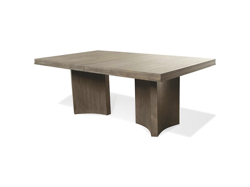 Riverside Furniture Precision7-Piece Pedestal Dining Table Set