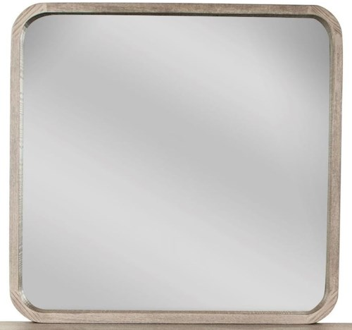 Riverside Furniture Precision Mirror with Rounded Edge Frame