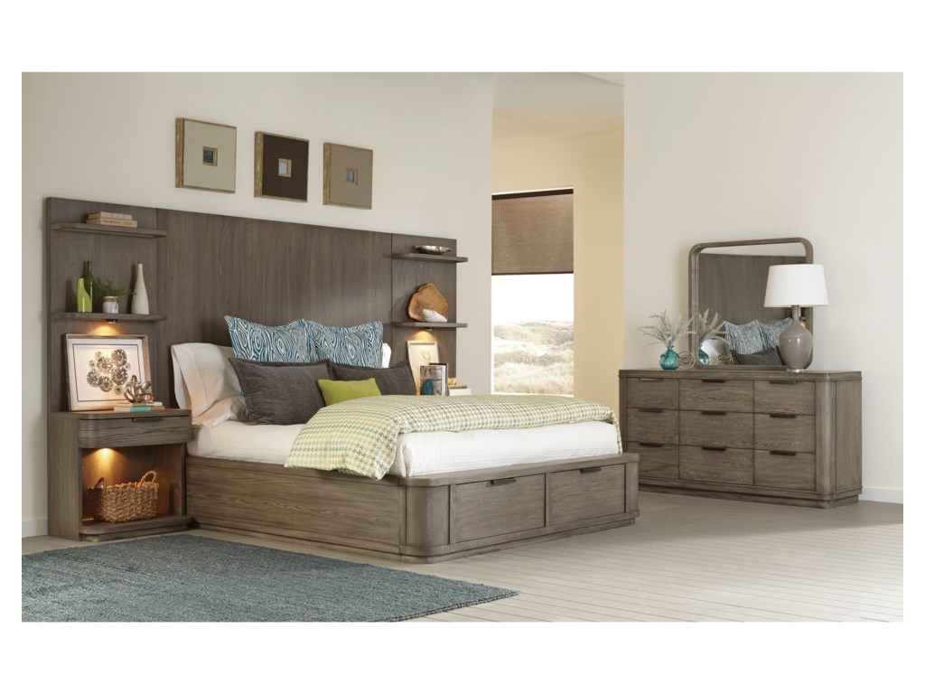 Riverside Furniture PrecisionQueen Tall Storage Bed