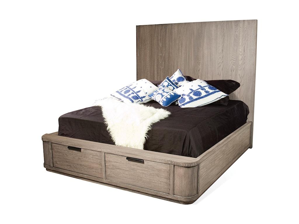 Riverside Furniture PrecisionQueen Tall Storage Bed