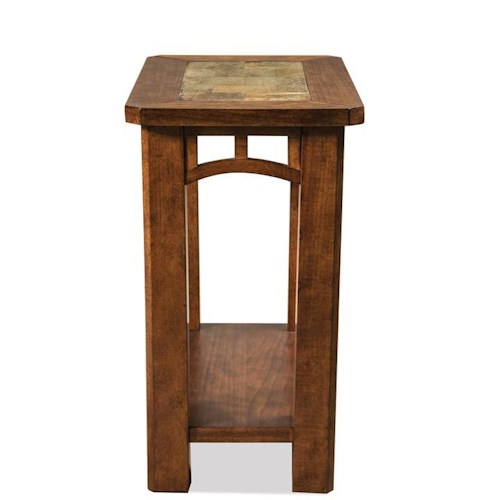 Riverside Furniture Preston Chairside Table with Slate Top