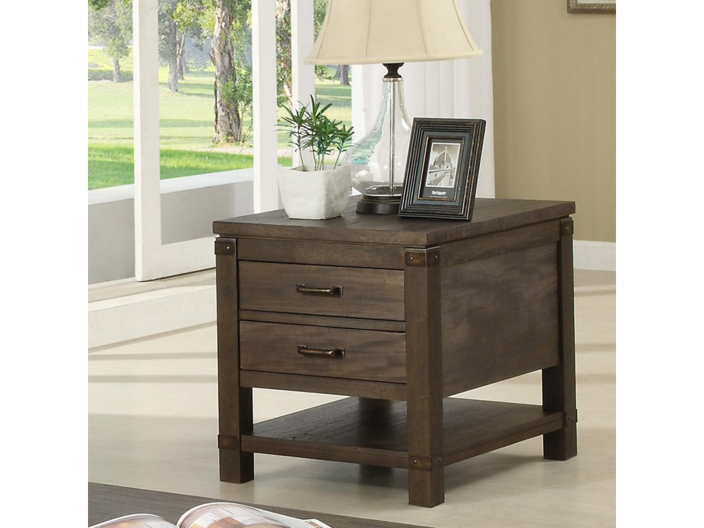 Riverside Furniture Promenade Rectangular End Table