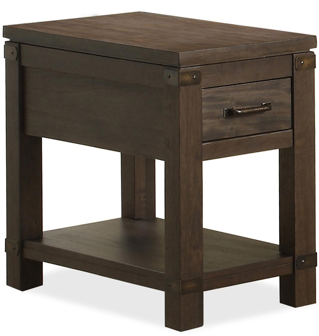 Riverside Furniture Promenade Chairside Table With 1