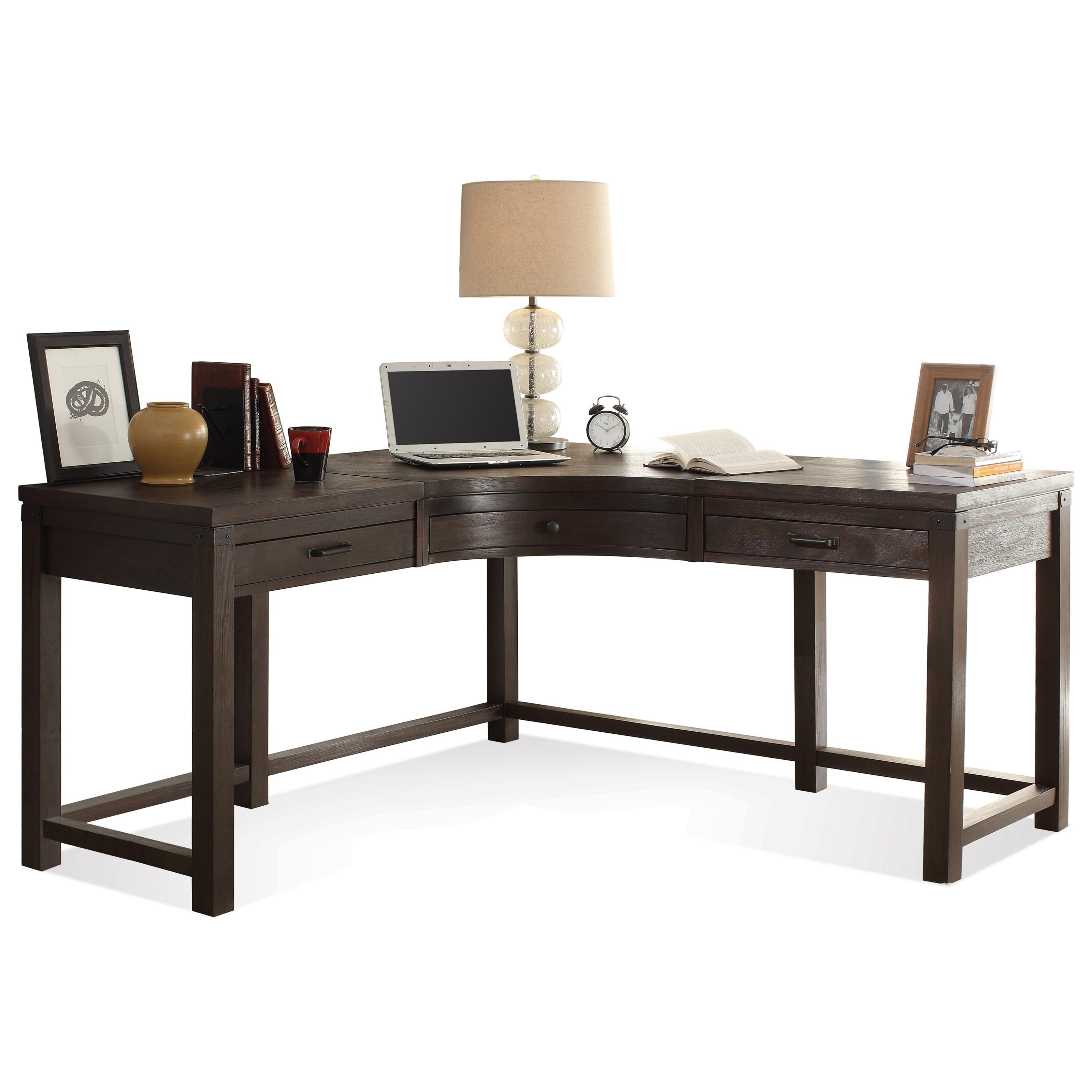 Riverside Furniture Promenade 3 Drawer Curved Corner Desk