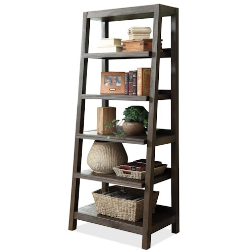 Riverside Furniture Promenade  Canted Bookcase with 5 Shelves