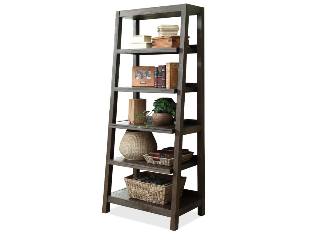 Riverside Furniture TrestlesCanted Bookcase