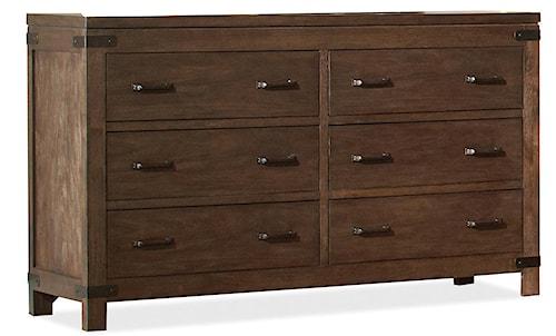 Riverside Furniture Promenade  6 Drawer Dresser with Block Feet