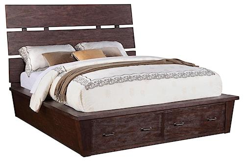 Riverside Furniture Promenade  Queen Platform Storage Bed with 2 Drawers