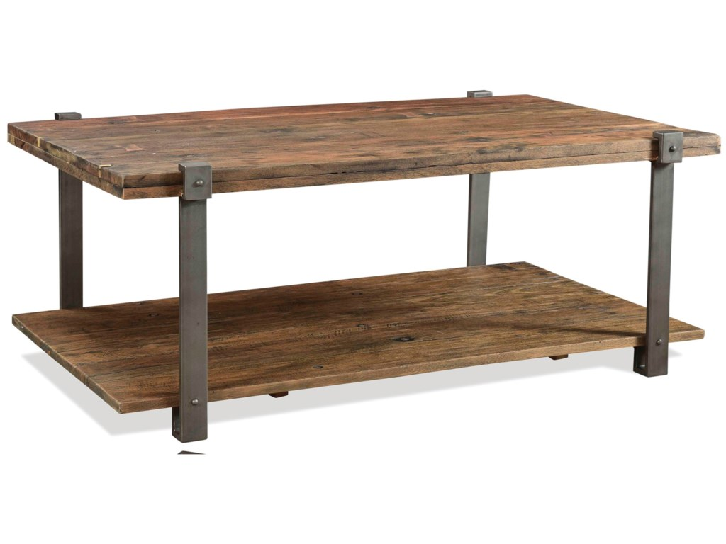 Riverside Furniture Quinton Rustic Rectangular Coffee Table With