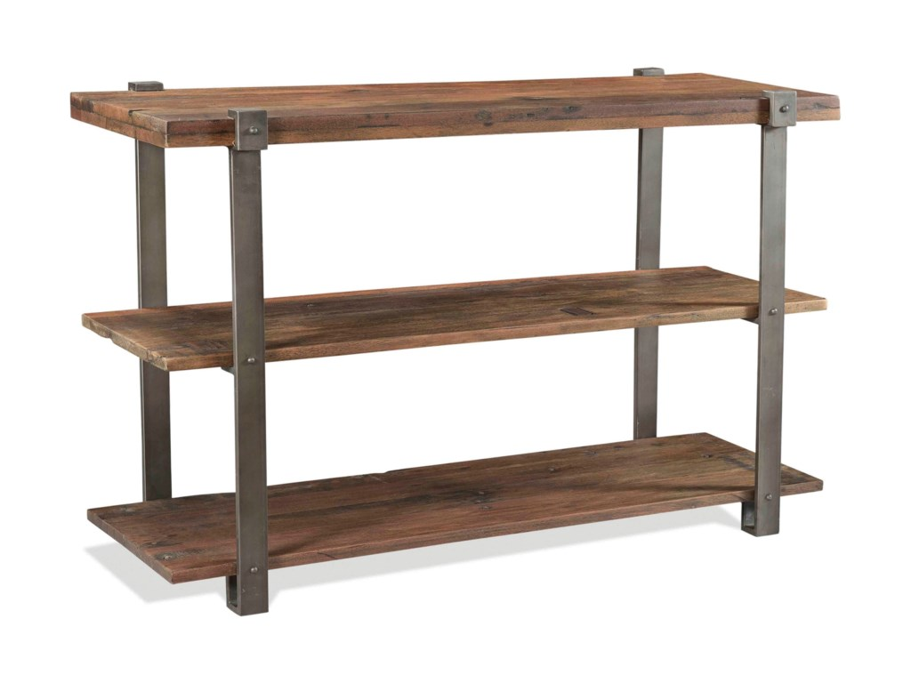 Quinton Rustic Console Table With 2 Shelves By Riverside Furniture At Super Rochester Mn