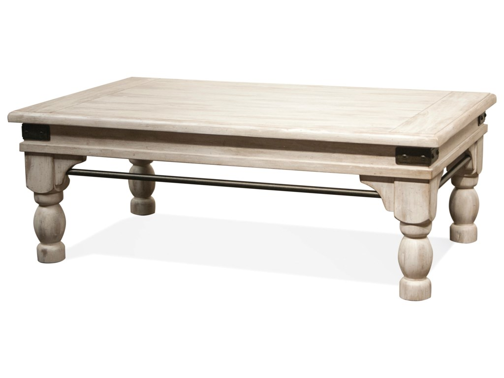 Riverside Furniture Regan 27302 Coffee Table With Metal Accents