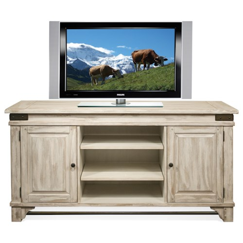 Riverside Furniture Regan TV Console with Metal Accents