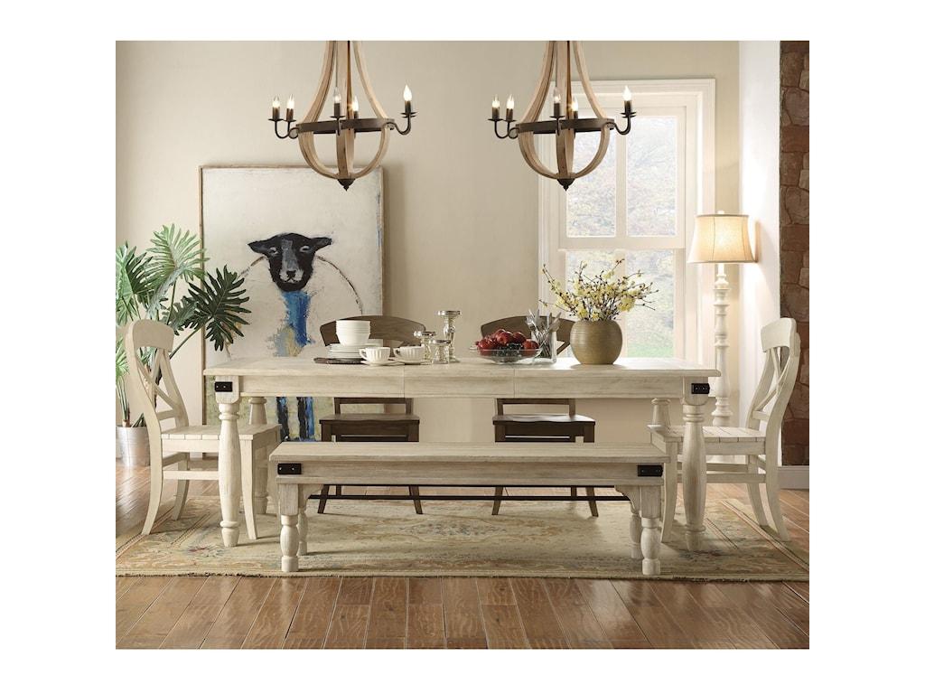 Riverside Furniture ReganDining Set with Bench