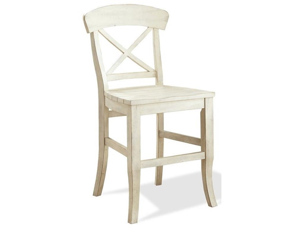 Riverside Furniture ReganX-Back Counter Stool