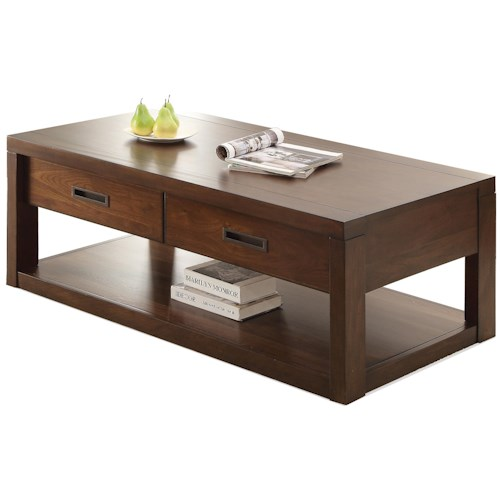 Riverside Furniture Riata Rectangular Cocktail Table w/ Casters