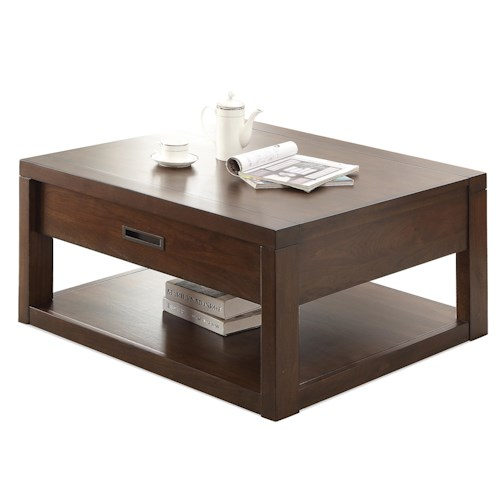 Riverside Furniture Riata Square Cocktail Table w/ Casters