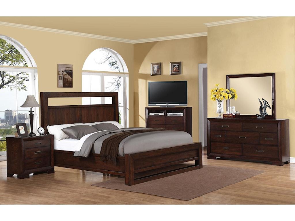 Riverside Furniture RiataDresser & Mirror Set