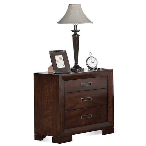 Riverside Furniture Riata Contemporary 3-Drawer Nightstand