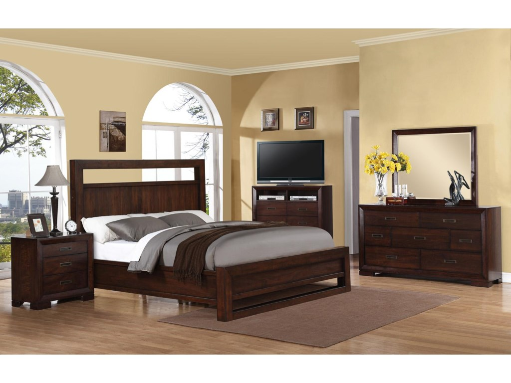 Riverside Furniture RiataKing Panel Bed