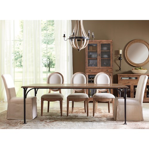 Riverside Furniture Sherborne 6 Piece Table and Upholstered Chair Set