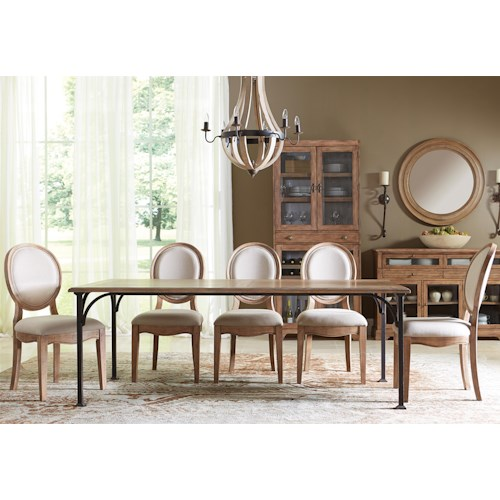 Riverside Furniture Sherborne 6 Piece Table and Oval Back Chair Set