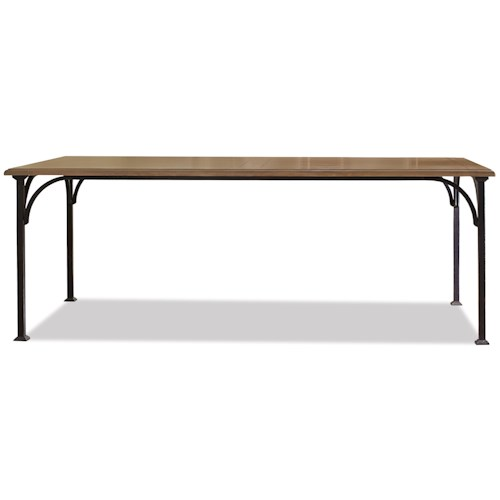 Riverside Furniture Sherborne Dining Table with Metal Legs and Framework