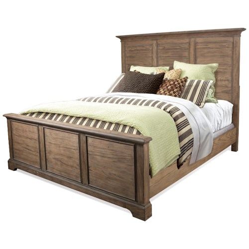 Riverside Furniture Sherborne Queen Panel Bed in Toasted Pecan Finish