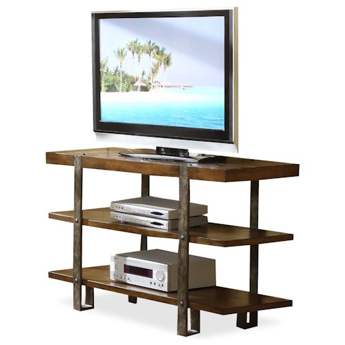 Riverside Furniture Sierra Rustically Styled Entertainment Console