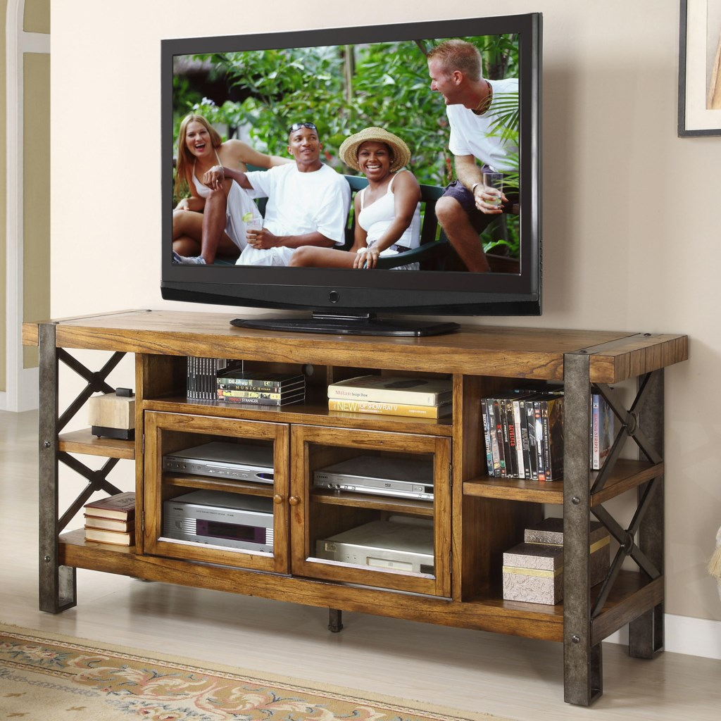 Riverside Furniture Sierra 68 Inch Tv Console With 2 Doors