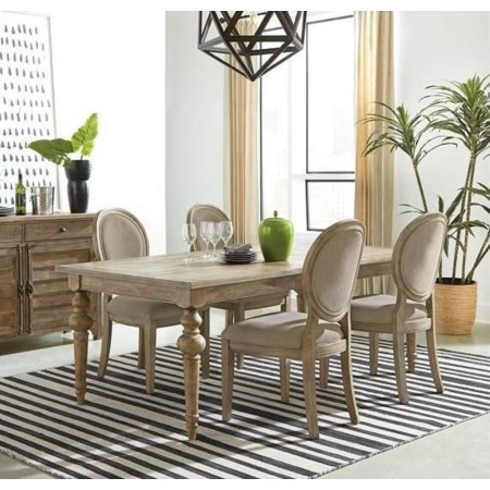 Sonora Table X Four Side Chairs