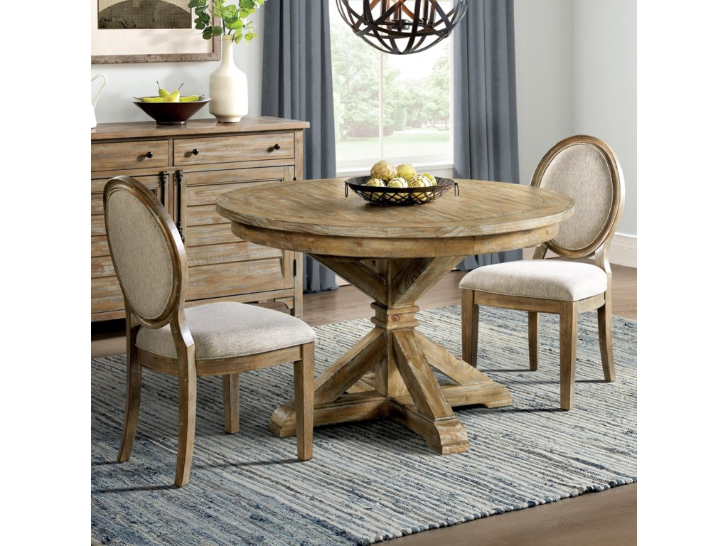 Riverside Furniture Sonora3-Piece Round Dining Table Set